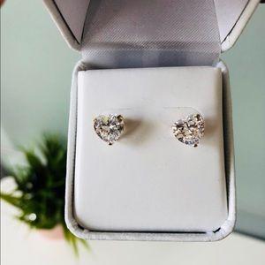 Jewelry - Heart cut diamond earrings